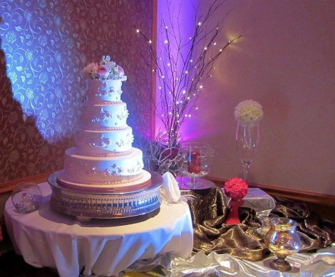 Birthday-cake-in-a-banquet-hall