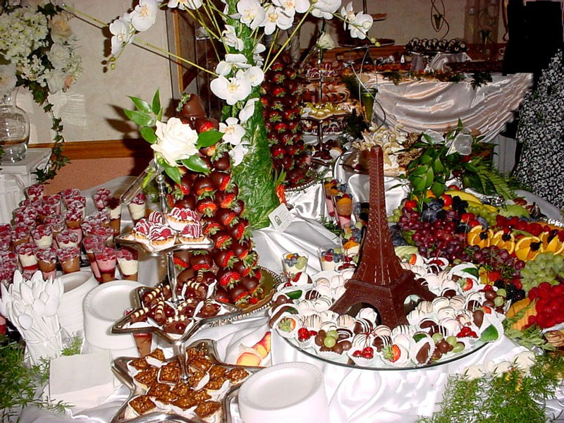 Wedding Reception table in Chicago Banquet hall