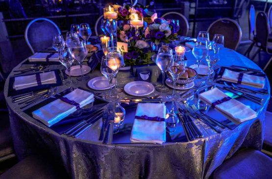 Table-set-up-for-birthday-party-in-Chicago-banquet-hall